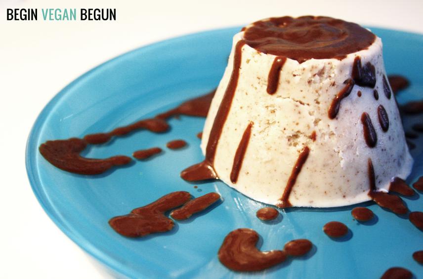 helado vegano de almendra y chocolate