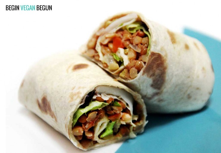 wraps lentejas veganos begin vegan begun