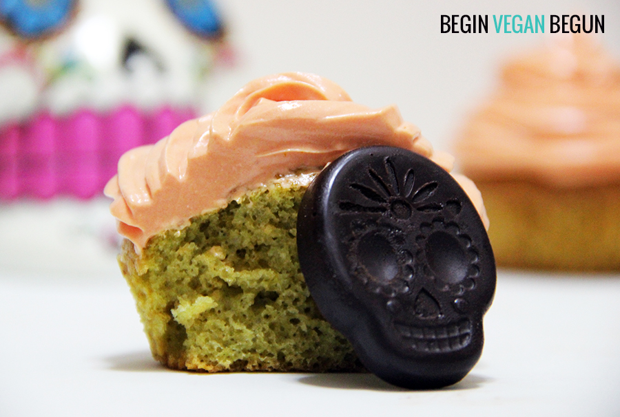 Cupcakes veganos de té matcha
