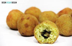 Recetas veganas: Arancini de berenjena