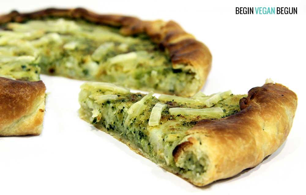 quiche brocoli coliflor begin vegan begun