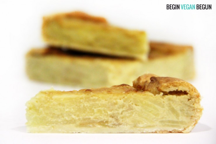 quiche de tortilla de patata vegana