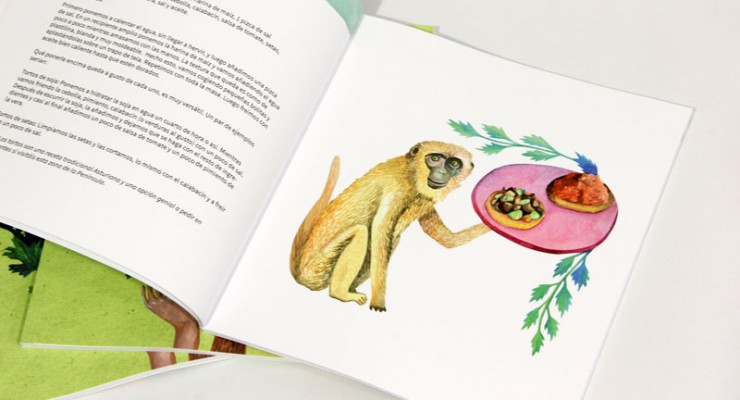 Libro de recetas veganas ilustrado
