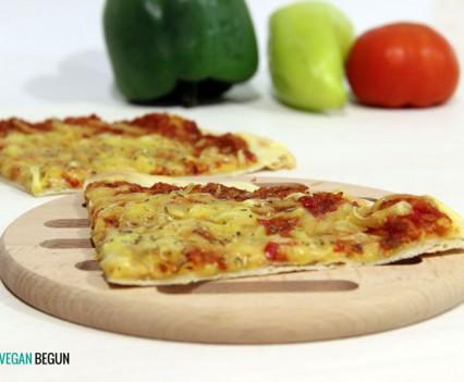 pizza barbacoa vegana