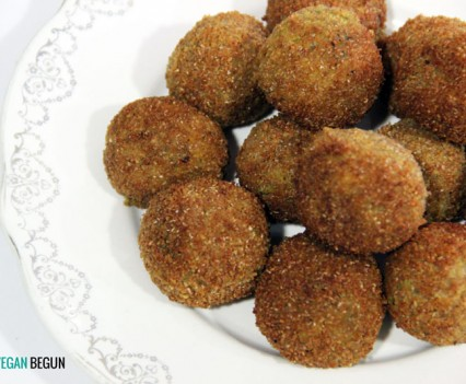 receta de croquetas veganas de lentejas rojas