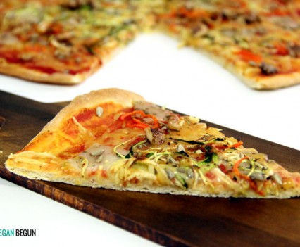 receta de Pizza de verduras vegana