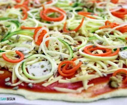 pizza vegana sin hornear