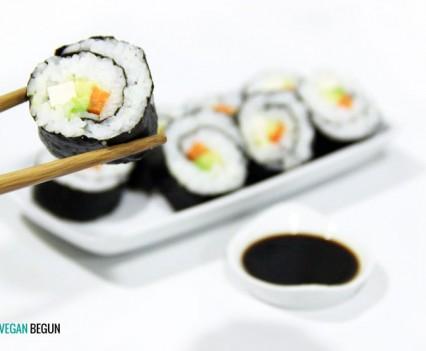 receta de sushi vegano
