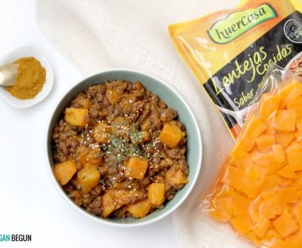 Lentejas con calabaza al curry