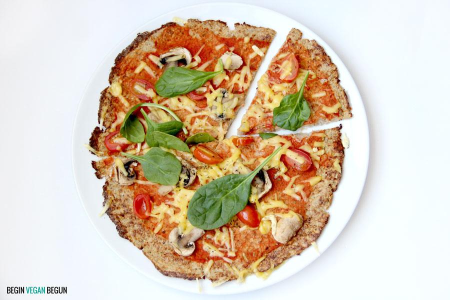 pizza con base de coliflor