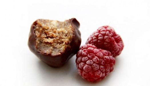 Bombones veganos de avellana y chocolate (sin azúcar)