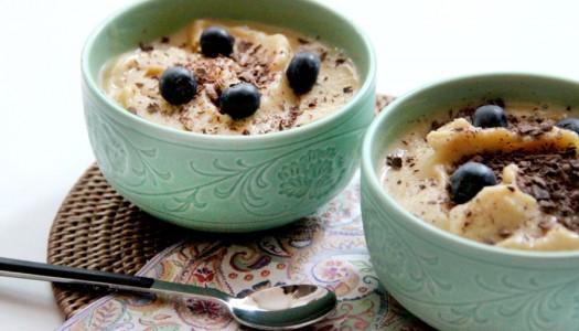 Helado de melocotón y vainilla (4 ingredientes)