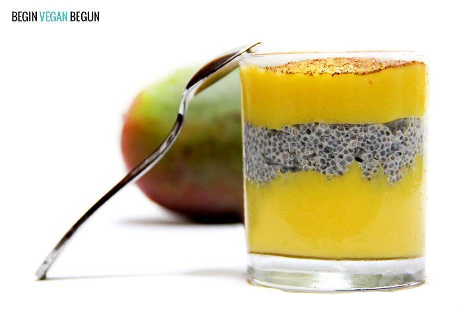 pudin de mango y chía vegano