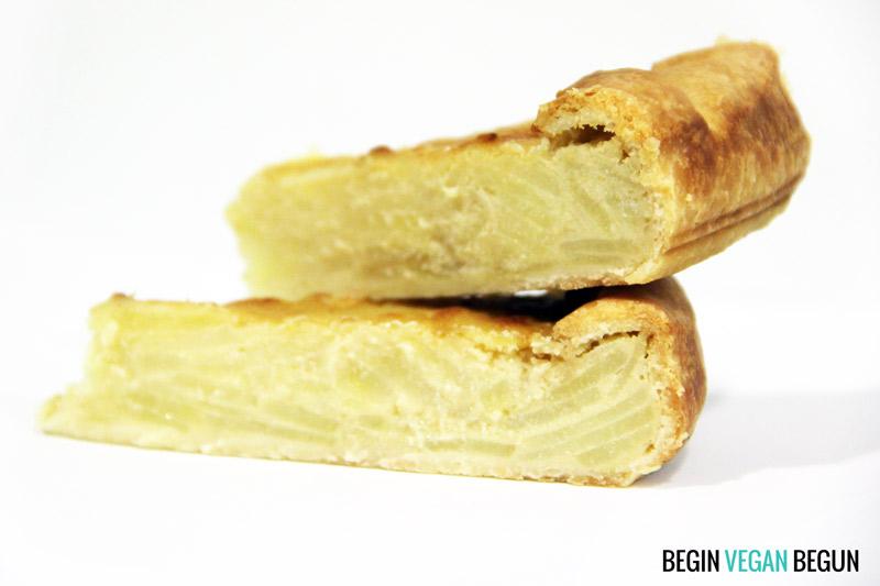 Quiché de tortilla vegana