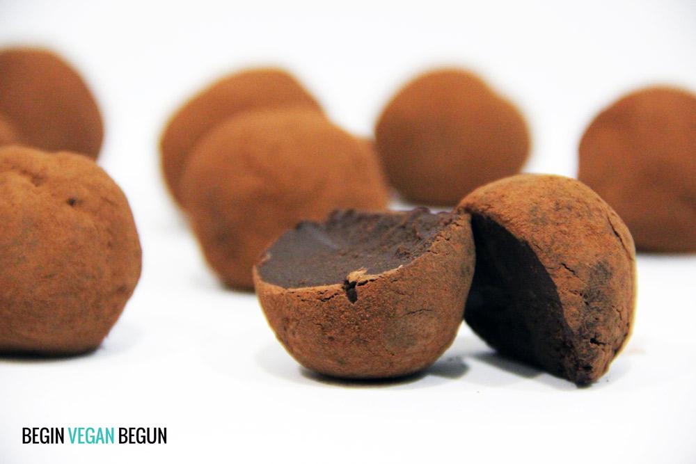 Trufas de chocolate veganas