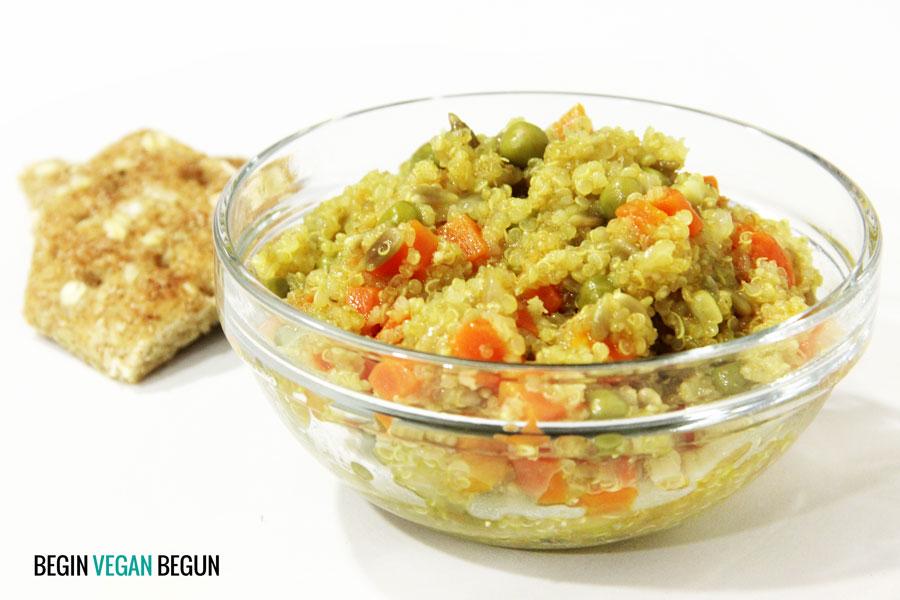 Quinoa al curry con verduras