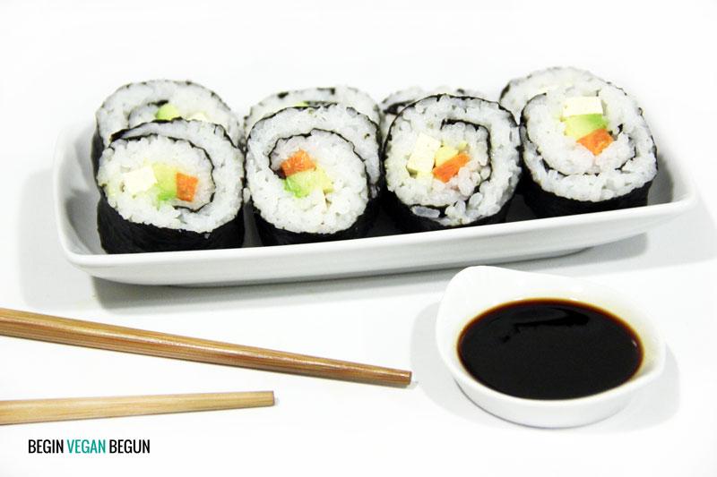 sushi vegano o makis