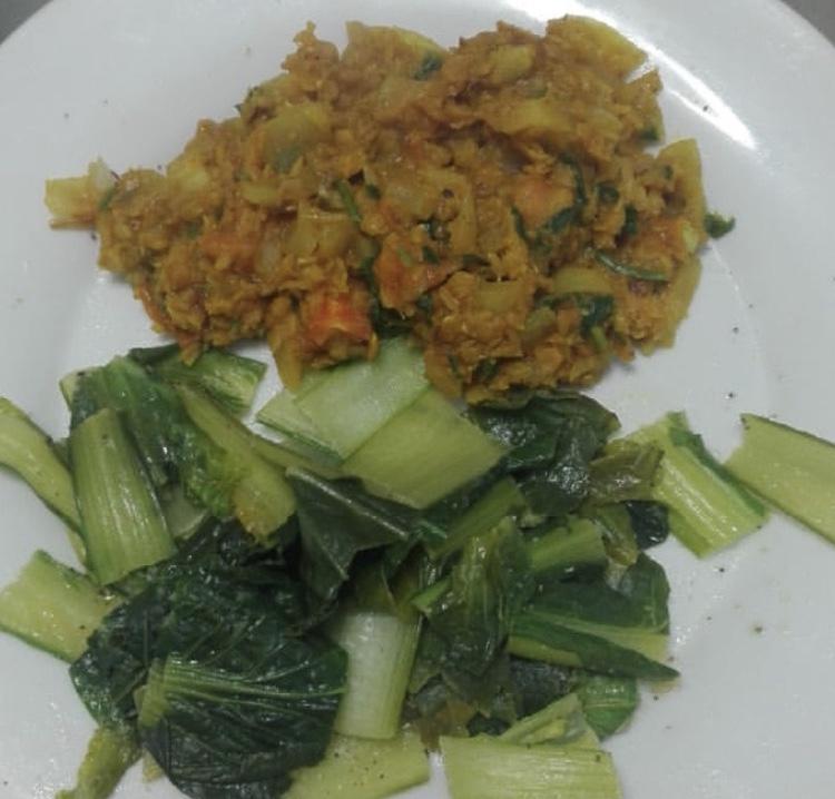 Receta de dhal de lentejas con verdura