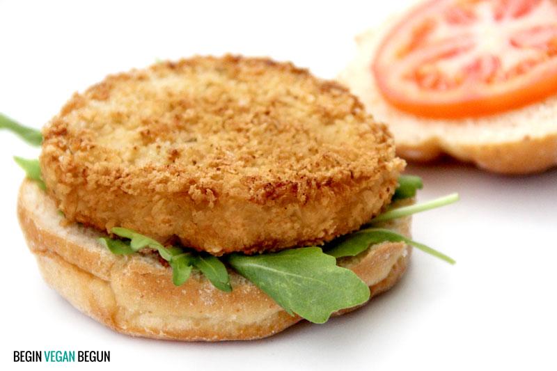 crispy vegan burger