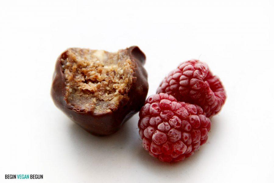 bombones veganos de avellana sin azúcar