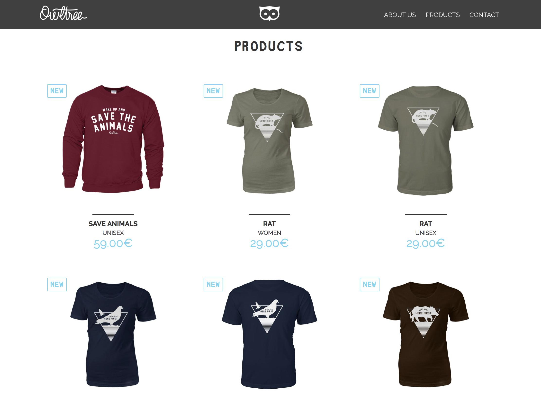 owltree camisetas veganas