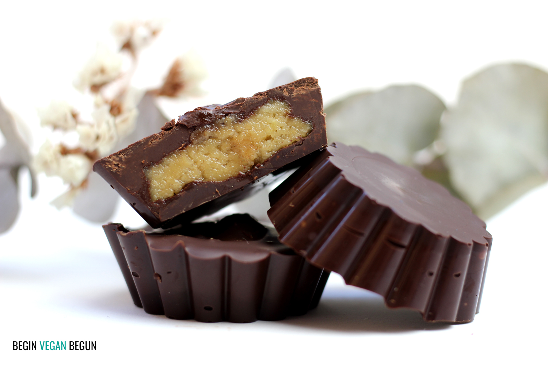 Tartaletas de chocolate y anacardos veganas