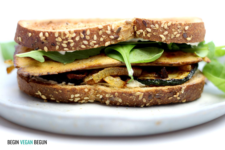 sandwich vegetal de tofu
