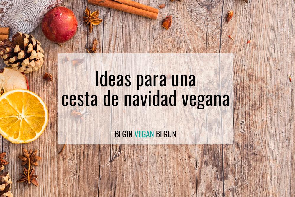 cesta de navidad vegana