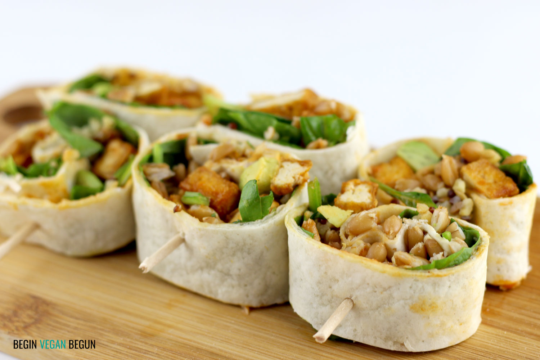 wrap de tofu vegano