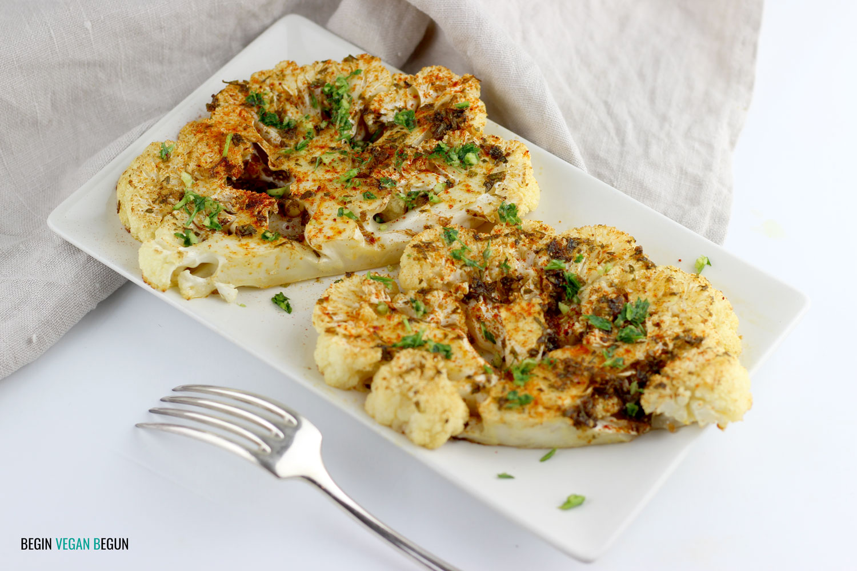 filetes de coliflor al horno